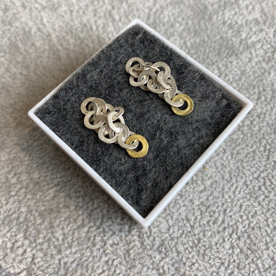 Ra chain cluster earrings, various colour options