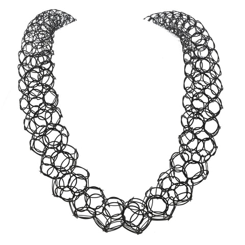 Wholesale Elliston sculptural chain necklace, silver or oxidised silver