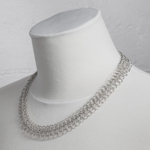 Ednie chain necklace, silver