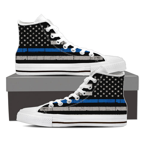 Thin Blue Line Flag High Top (Women's)