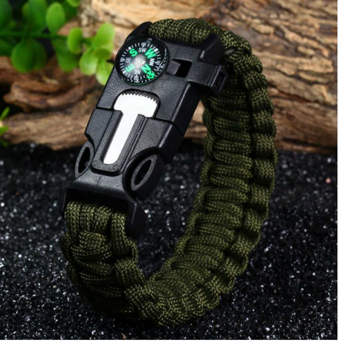 Tactical Paracord Compass Bracelet