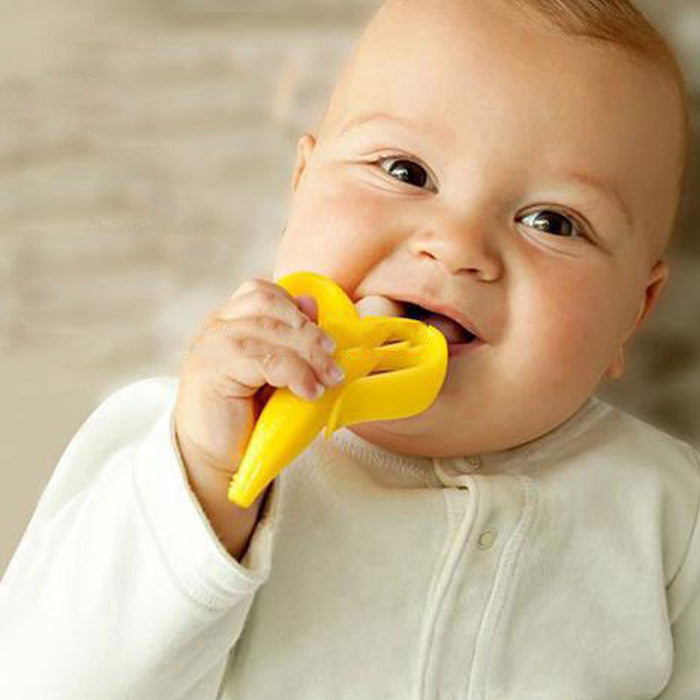 Baby Banana Training Toothbrush and Teether