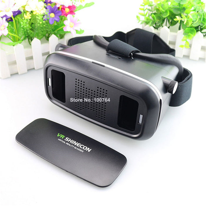 Virtual Reality 3D Glasses Head Set Movies Games + Bluetooth Remote Control