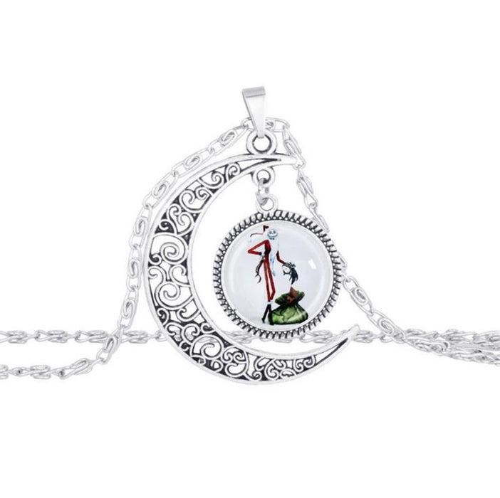 Nightmare Before Christmas Silver Pendant