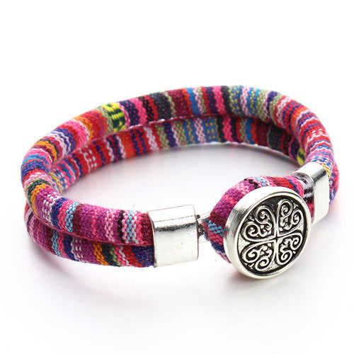 Tibetan Snap Button Bracelets