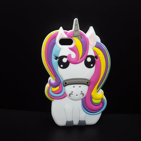 3D Unicorn Silicon iPhone Case