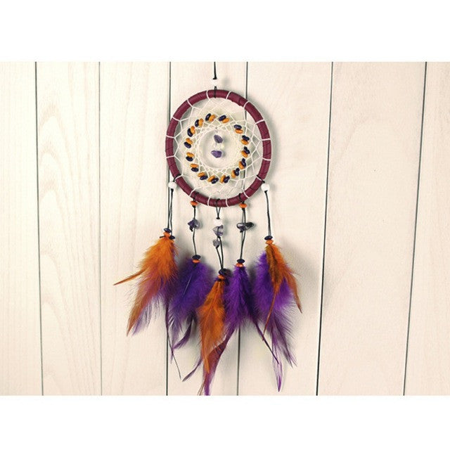 Dreamcatcher with Stone and Feathers