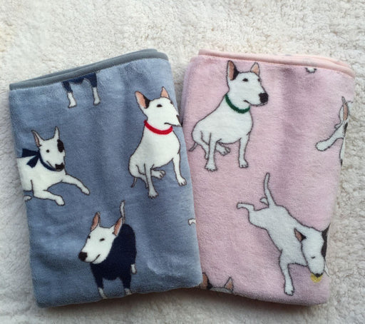 Bull Terrier Fleece Blanket