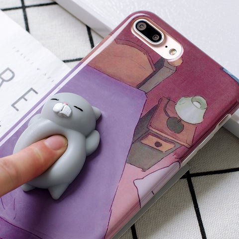 3D Squishy Cat / Panda Bear iPhone Case