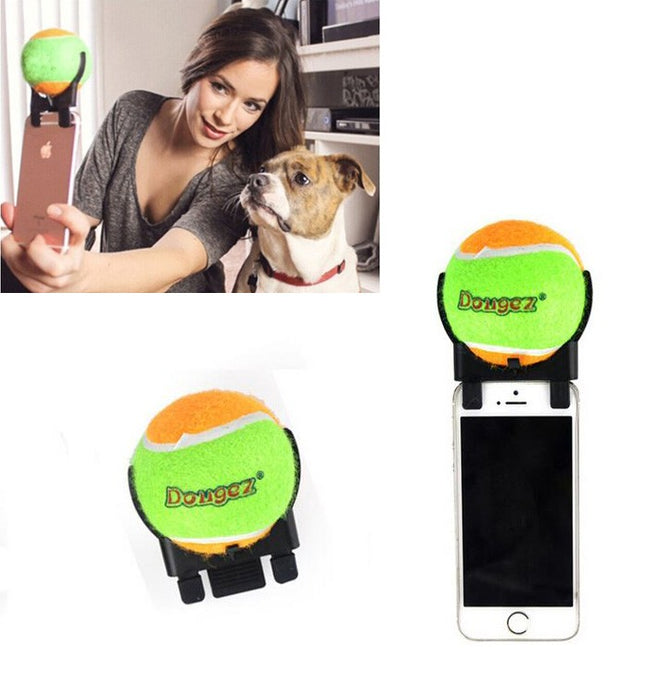 Dog selfie stick ball