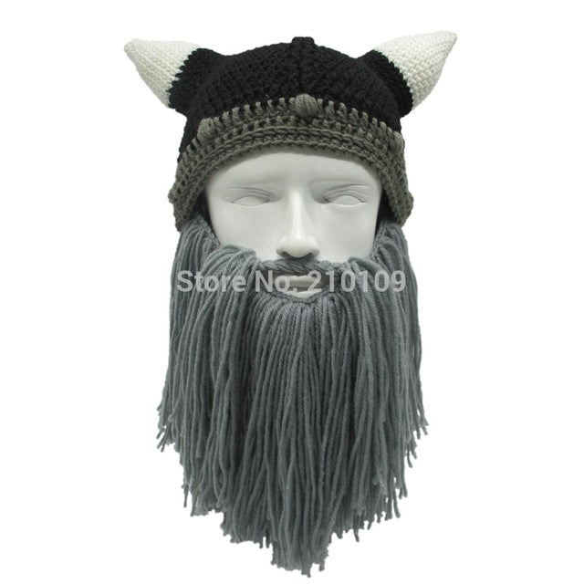 Handmade Crochet Viking Hats
