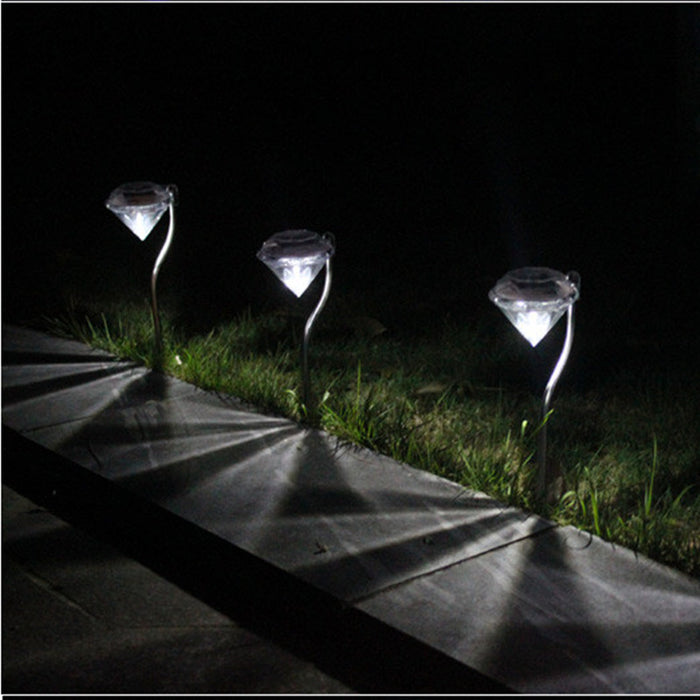 4PCS DIAMOND SOLAR GARDEN LIGHTS
