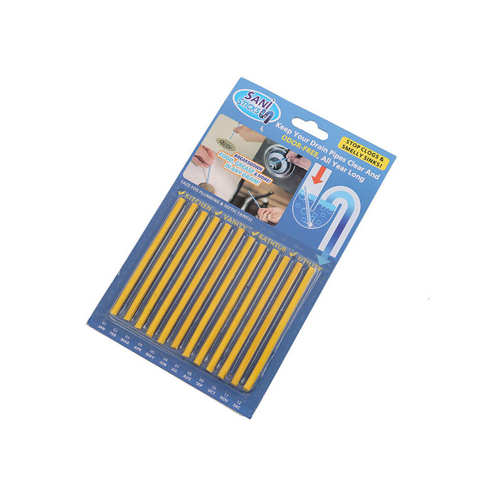 12PCS/ Set Sani Cleaing Sticks Keep Your Drains Pipes Clear