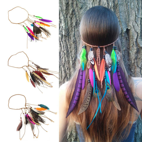 Bohemian Feather Headband