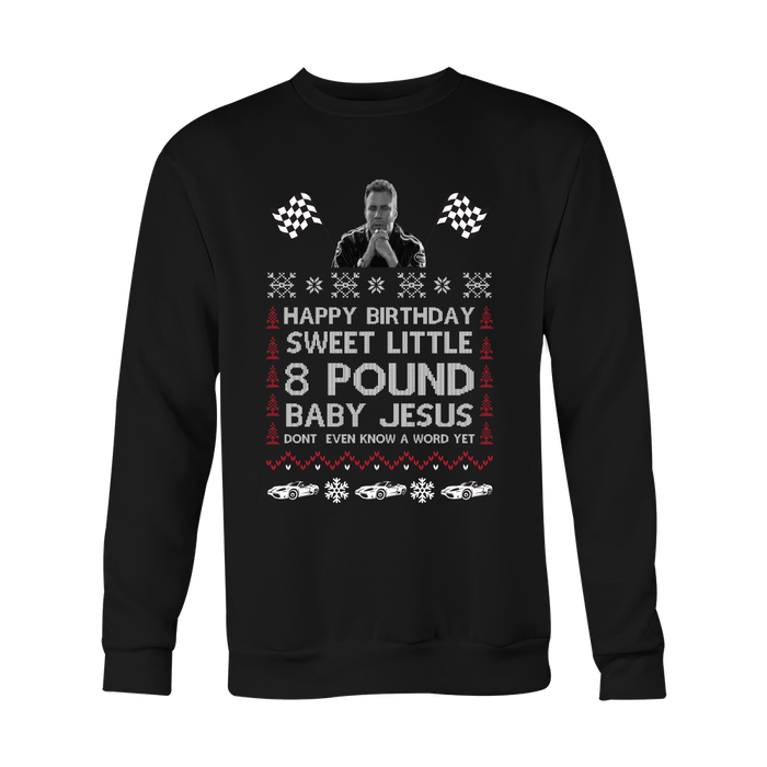 The Ricky Bobby Ugly Christmas Sweater The Gift Grabber