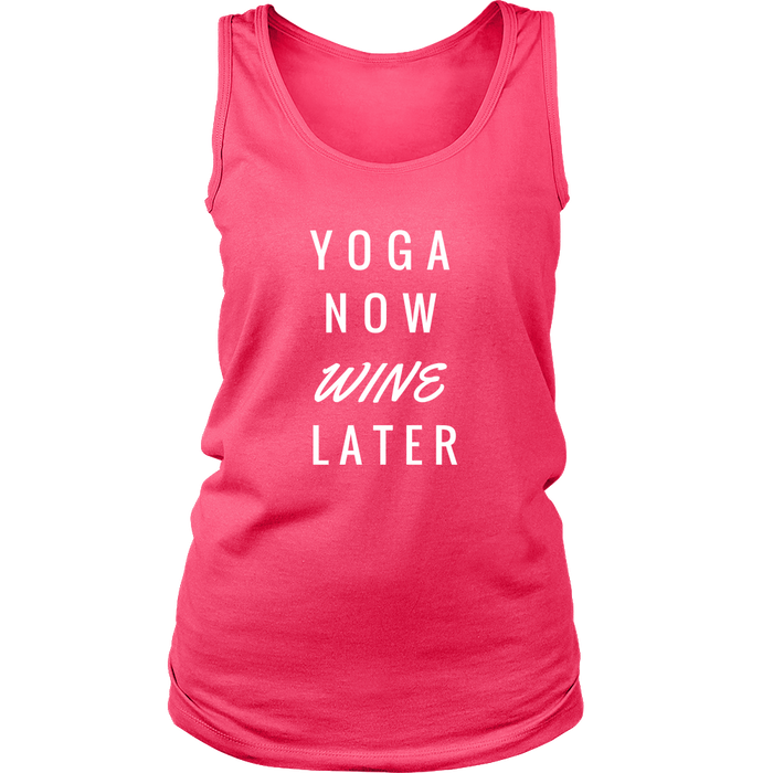 Yoga Now Wine Later Women's Tank