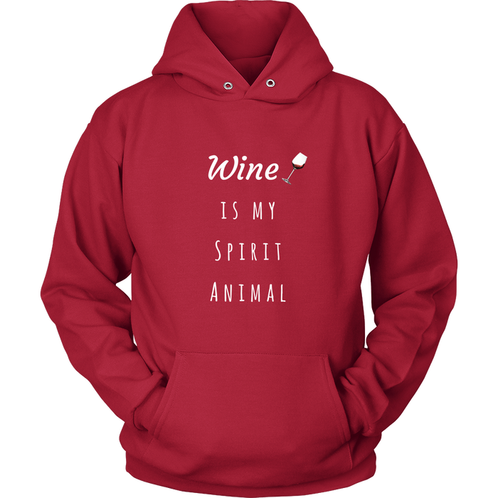 Wine is My Spirit Animal Unisex Hoodie