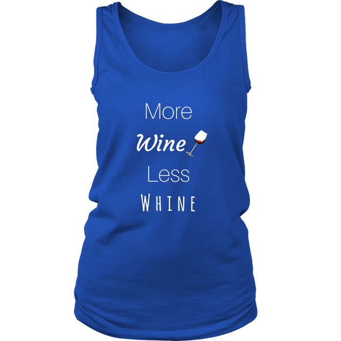 More Wine Less Whine Women's Tank