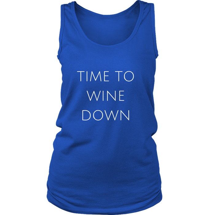 Time To Wine Down Women's Tank