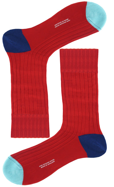 Add a pop of colour to your everyday outfit with these socks. Wear them with a navy blue suit for a subtle accent that no one will notice, unless you want them to.