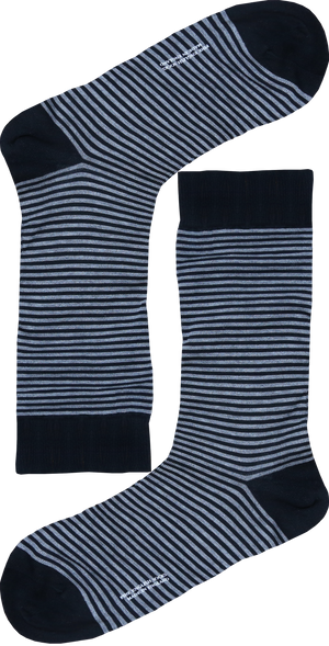 These striped socks will become a timeless accesory. Crafted 100% cotton of the highest quality. Wear them with a grey or black suit for a more classic look.