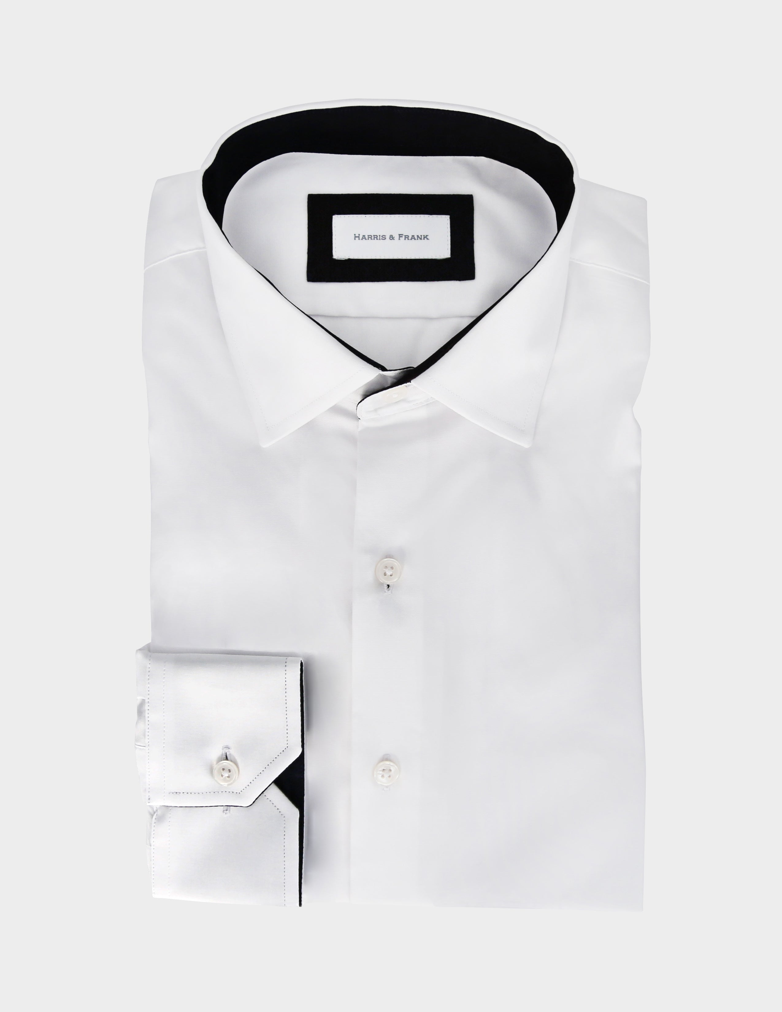 White Shirt with Inside Print