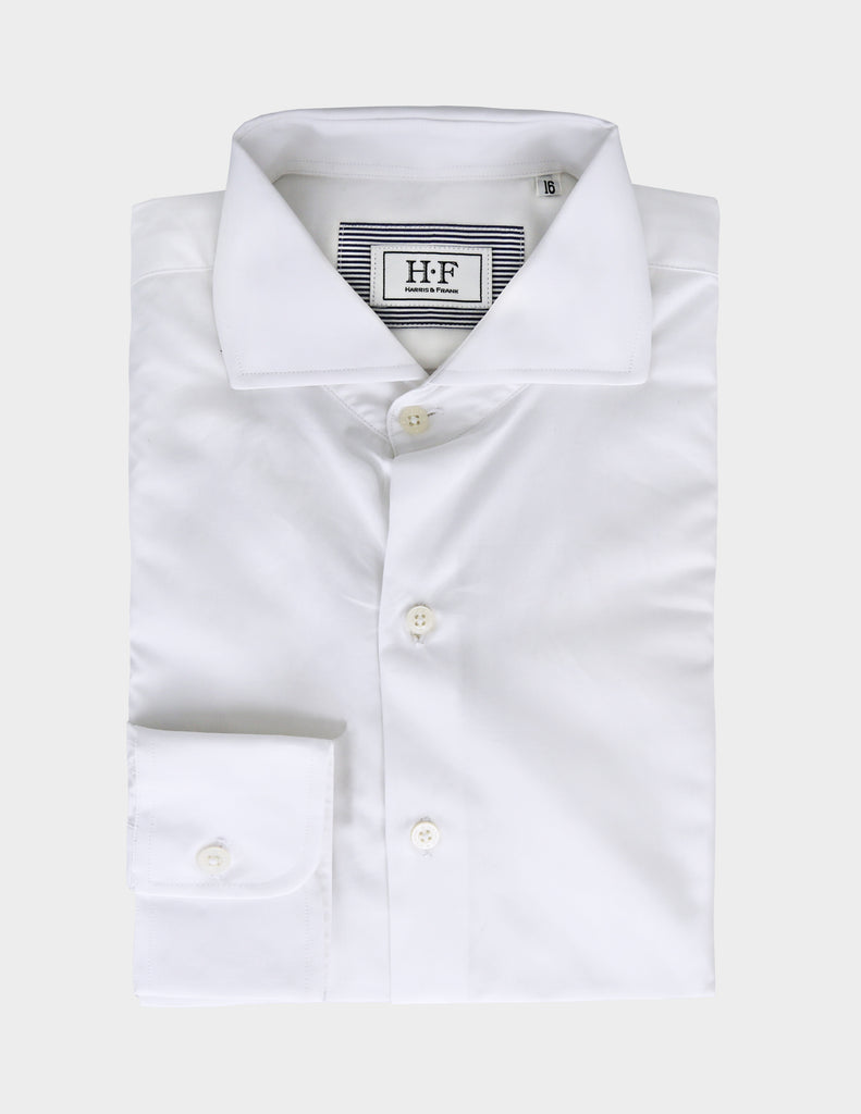 The white shirt is an essential item in every man's closet.  Timeless details make it perfect for a spring business outfit.