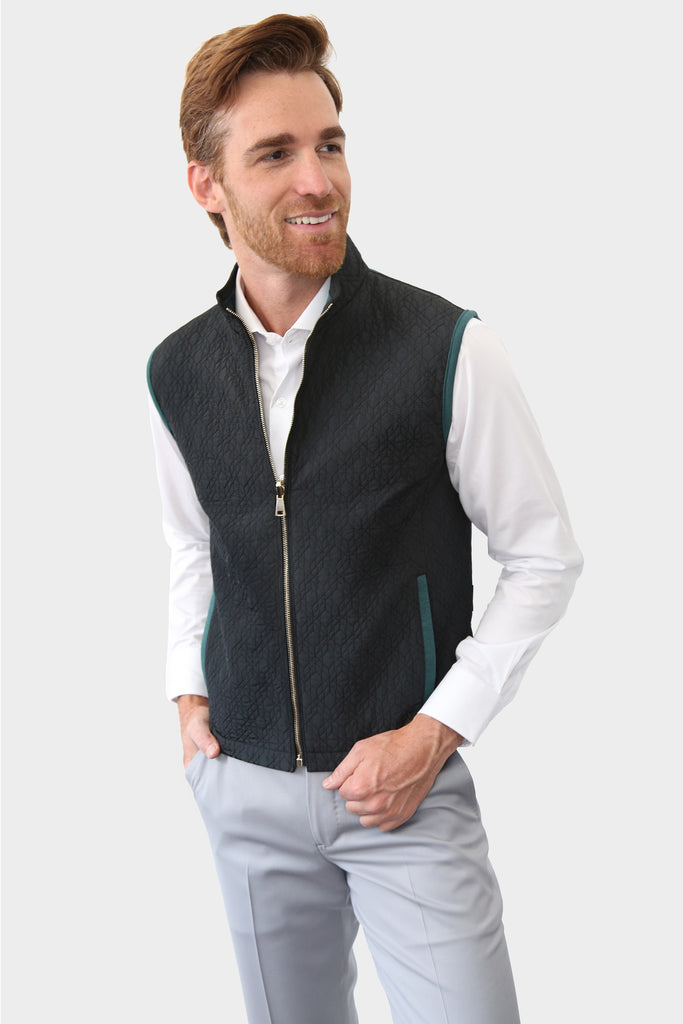 The season calls for a vest. It will give sophistication to a casual outfit, while keeping you warm in windy days and summer nights.