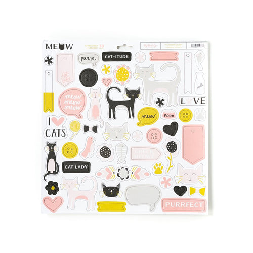 Meow Chipboard Elements