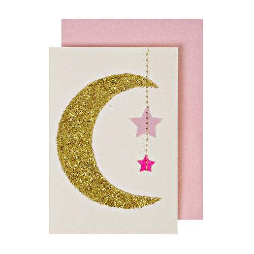Baby Girl Hanging Mobile Card - Jillian Maddie Paperie