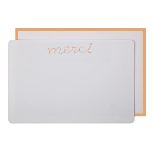 Stitched Merci Thank You Cards