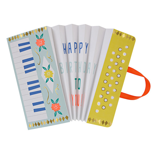 Accordion Happy Birthday Card - Jillian Maddie Paperie