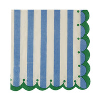 Blue and White Napkins - Small