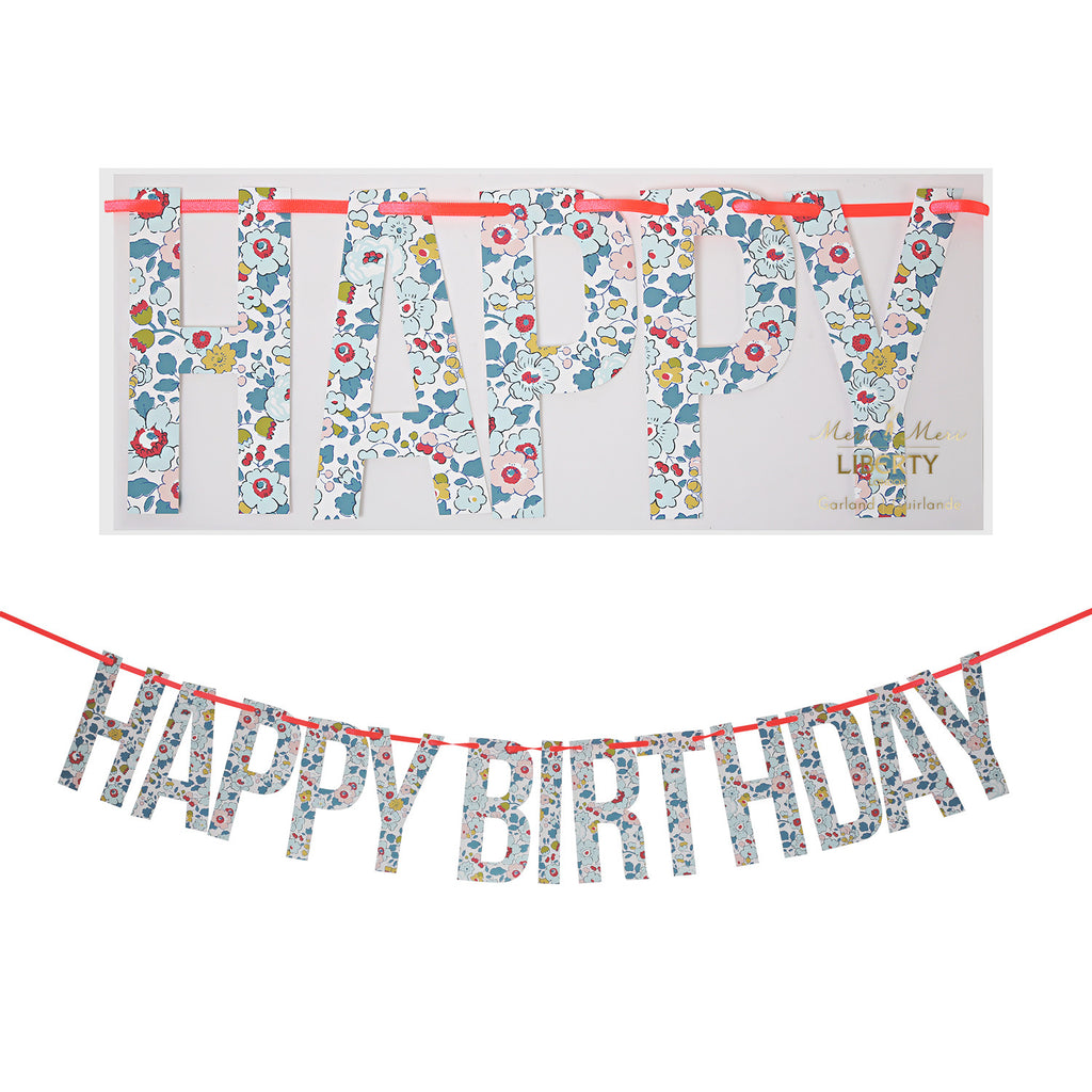 Liberty Print - Happy Birthday