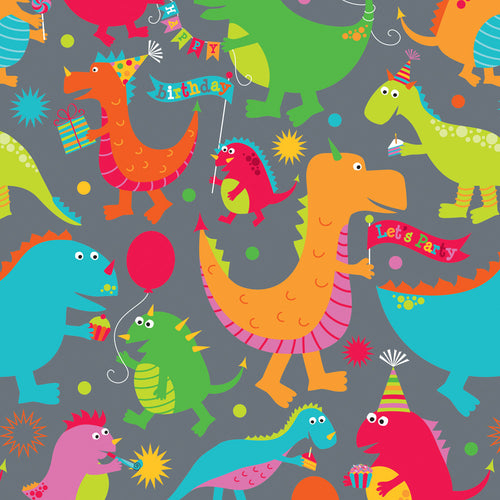 Dinosaur Party Gift Wrap