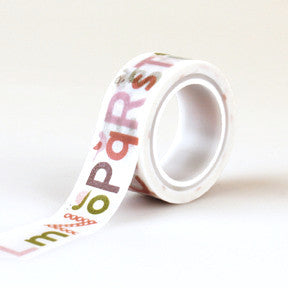 Alphabet Washi Tape - Jillian Maddie Paperie