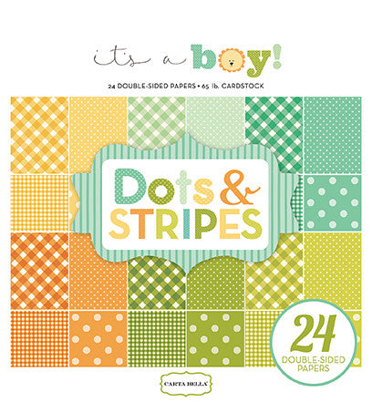 It's A Boy Dots & Stripes Paper Pad