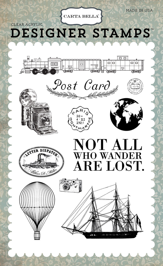 Postcard Stamp Set