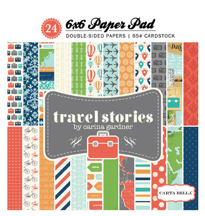 Travel Stories 6x6 Paper Pad