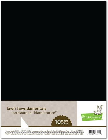 Cardstock- Black Licorice
