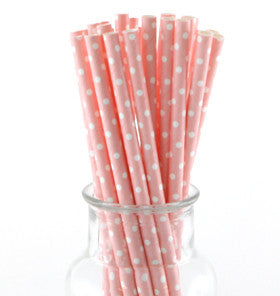 Pint and White Polka Dot Straws
