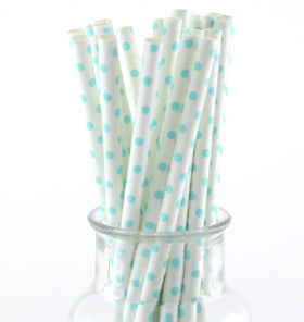 Blue Polka Dot Straws