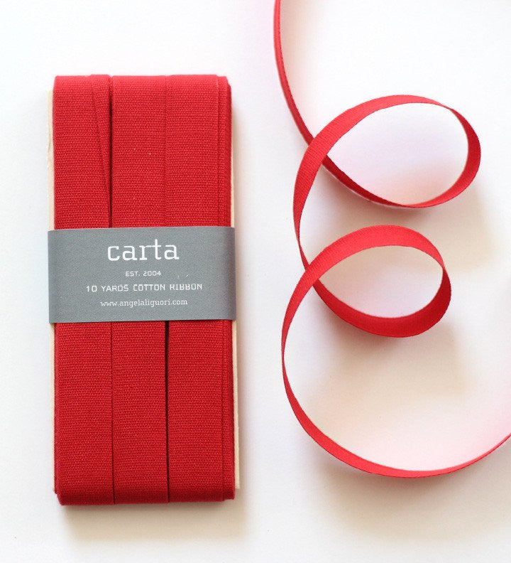 Cotton Ribbon- Red