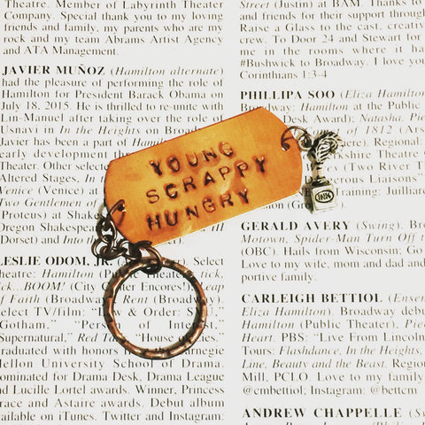 Hamilton MY SHOT Young Scrappy and Hungry Charm Keychain