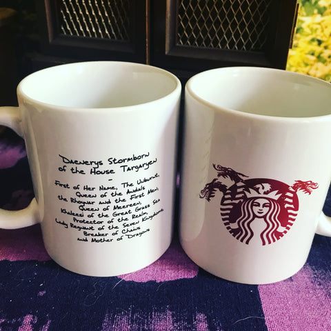 Daenerys X Starbucks 3 Headed Dragon Coffee Mug