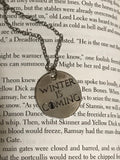 Game of Thrones Winter is Coming engraved Pendent necklace