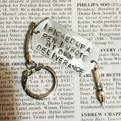 Hamilton Broadway Hurricane Lyrics I Wrote My Own Deliverance Keychain - HAM4WESTEROS