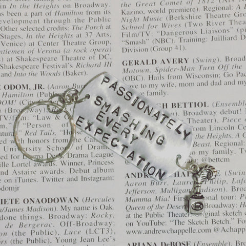 Hamilton The Musical My Shot Stamped Charm Keychain - HAM4WESTEROS