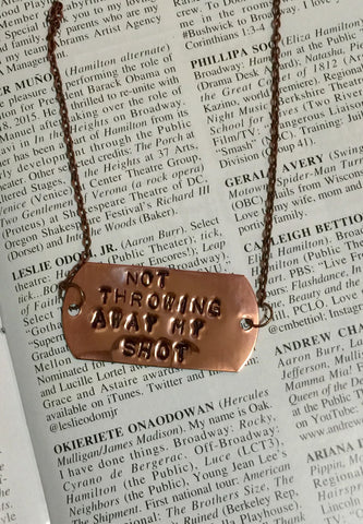 Hamilton The Musical My Shot Stamped Id Necklace - HAM4WESTEROS