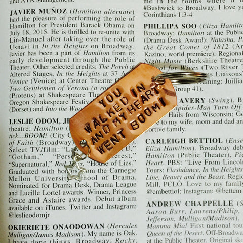 Hamilton Broadway Helpless Lyrics Charm Keychain - HAM4WESTEROS
